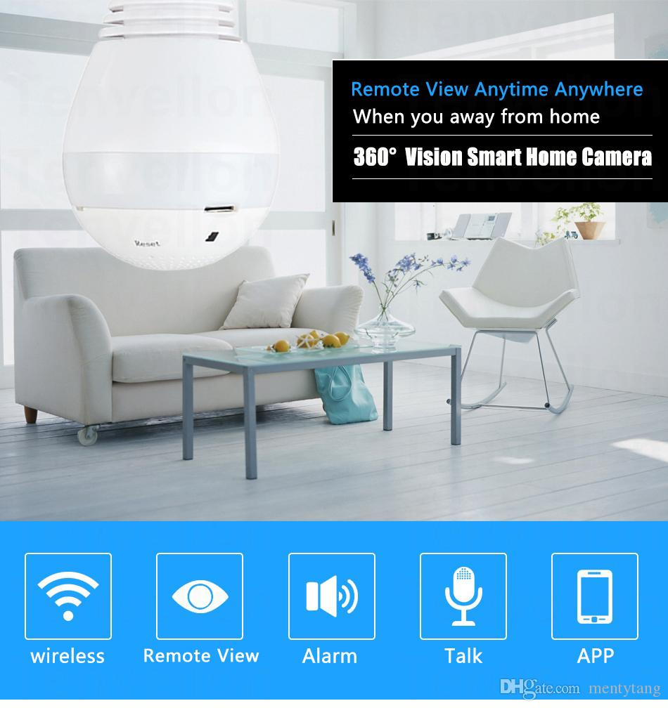 Startseite Lampe Lampe MINI IP-Kamera Wifi Micro SD CCTV Sicherheit Wifi Kamera HD 1080P Wireless-Audio-Überwachungskamera