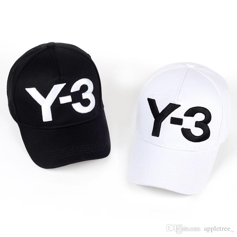 Fashion Y-3 Hat Y3 Baseball Cap Womens Mens Letter Caps Black White ... 0b4e33da7c9