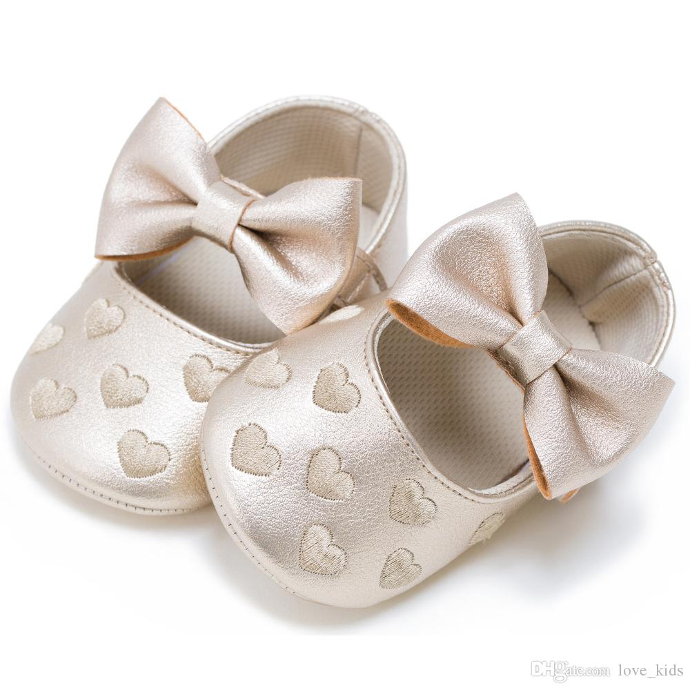 Baby Shoes Spring Girls Bowknot Princess Toddler Shoes Autumn First Walkers Lovely Pu Girls Shoes First Walkers Mother & Kids