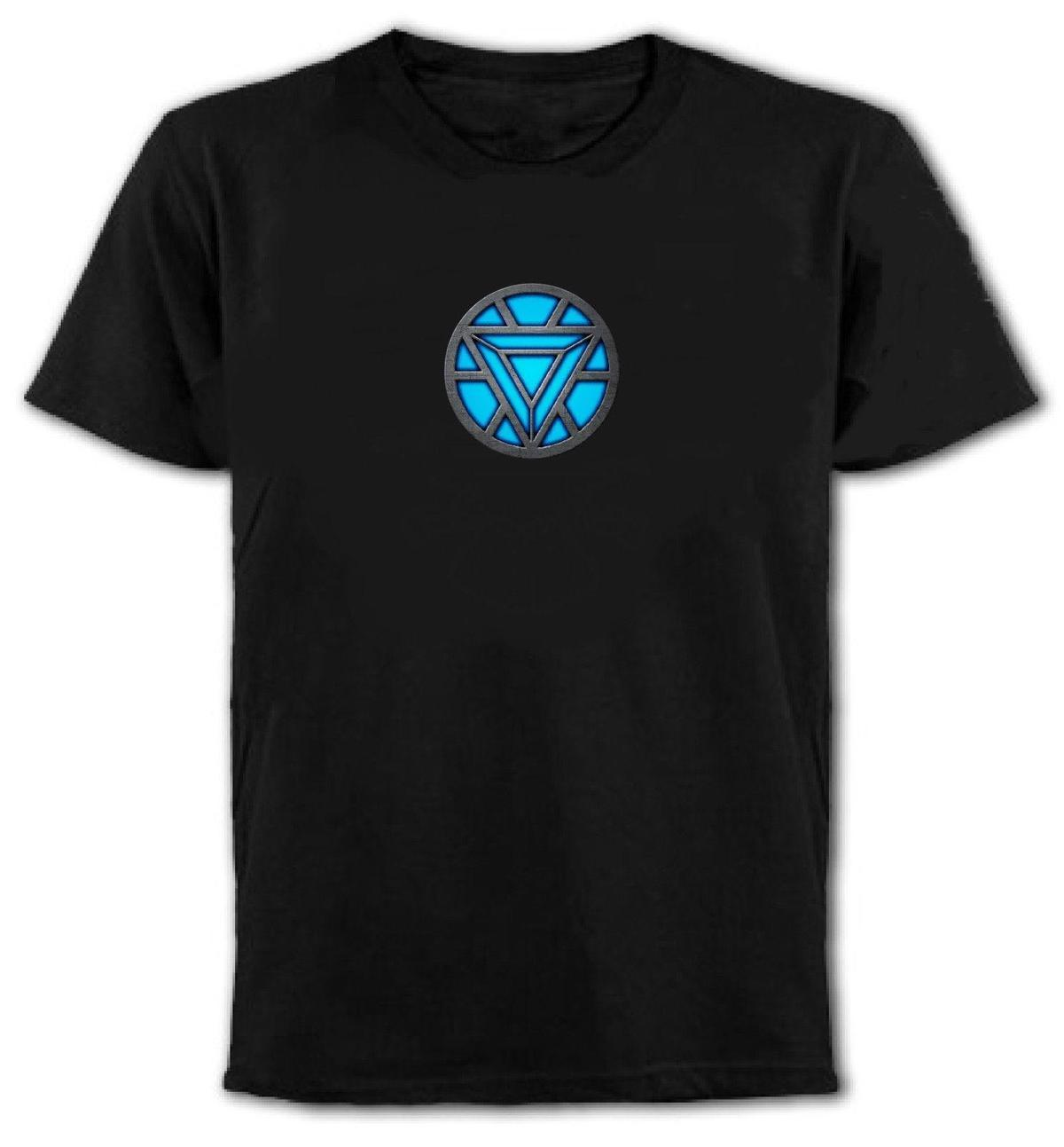 Iron Man Arc Reactor Unisex Marvell T-Shirt All Sizes/Colours Mens 2018 fashion Brand T Shirt O-Neck 100%cotton T-Shirt
