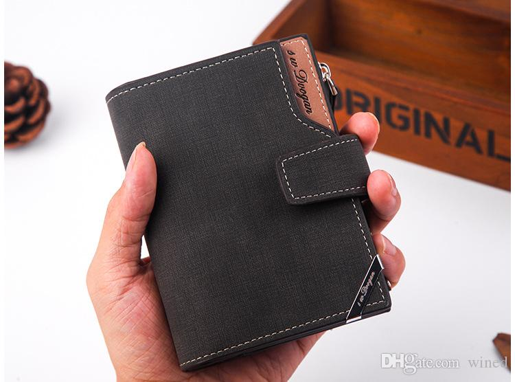 New Fashion Casual Driver's License Men's Leather Wallet Designs Business Card Holders Pocket Wallets Multi-Function Mini Wallets