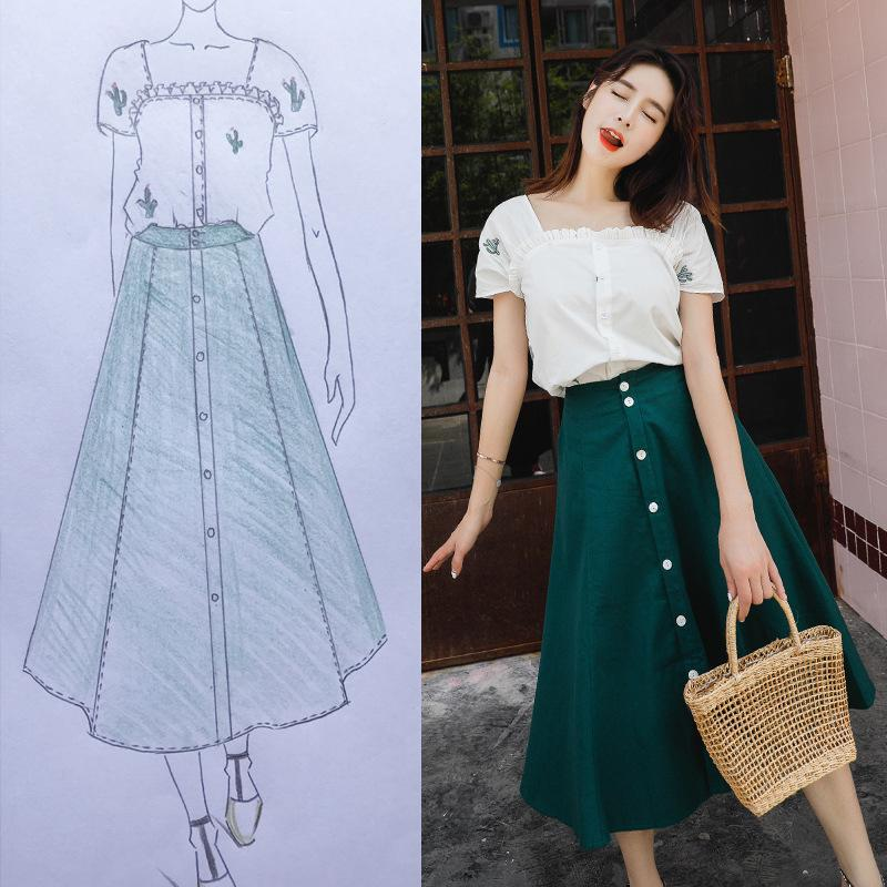 9843b9714a 2019 Women Set Set Women Summer Suit Green Skirt And White Top Femme Ladies  Clothing From Tayler, $34.15 | DHgate.Com