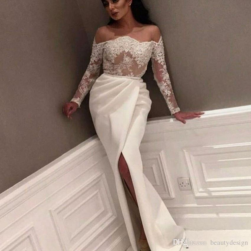 dd1b9fa26 Myriam Fares Lace Lace Sheer Top Evening Dresses 2018 Off The ...