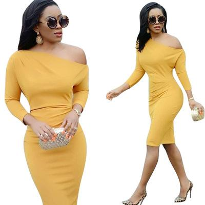 271adea1c58 Dress for Women Slash Neck Dress Slim Ladies Brief Sexy Bodycon ...