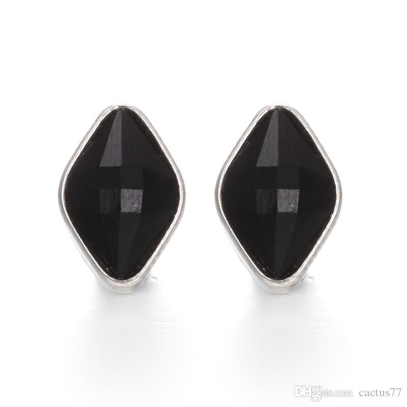 Noosa prata 12mm snap botão pedaços oval strass botão de pressão de gengibre jóias diy snap pulseira achados