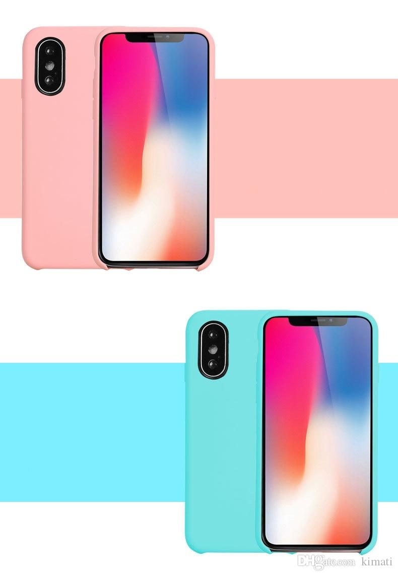 Quality liquid silicone phone case for iPhone X cover Protective Phone case microfiber cushion fashion luxury case for iPhone X 6s 6plus