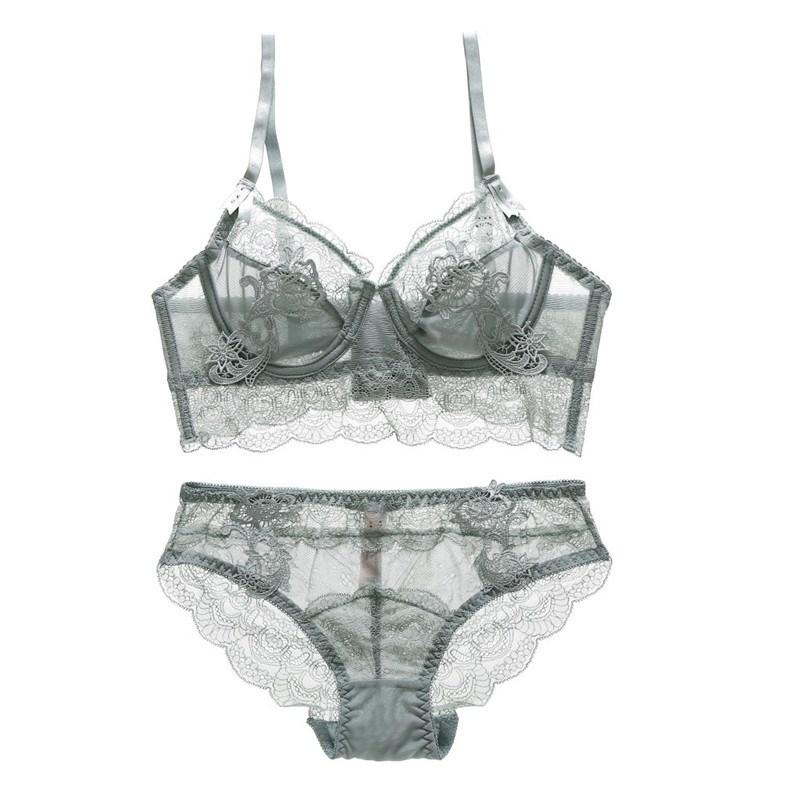 212dd432230 Sexy Lady Push Up Intimates Bra Brief Set Solid Floral Lace Transparent  Bralette Underwear Panty Set Online with  25.62 Piece on Zehanclothing s  Store ...