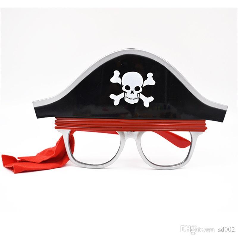 Interessante pirata occhiali novità regalo creativo divertente occhiali halloween masquerade palla prop decorazione del partito forniture 9sf c