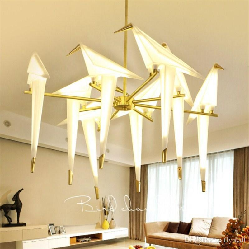 Modern Origami Crane Bird Pendant Light Wall Lamps Nordic Style Creative Design Personality Lamp Hanging Hotel Hall Parlor Bedroom Bar