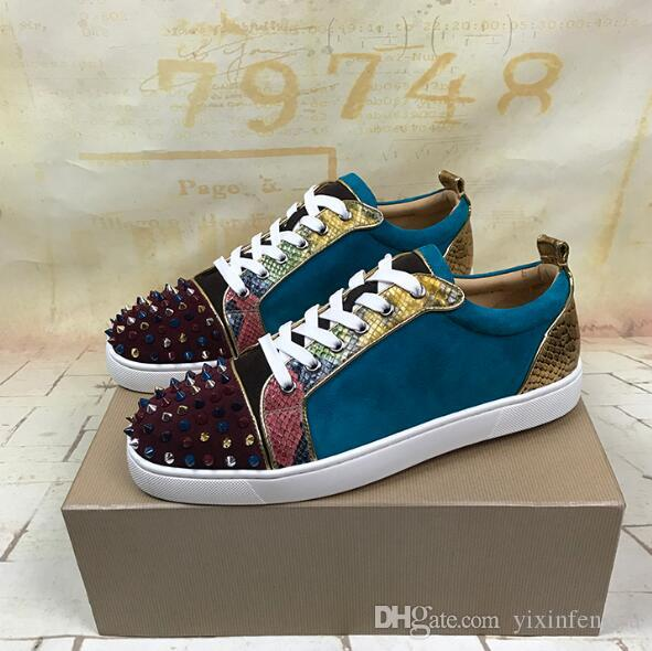 a03cb738dc7 2018 High Quality Red Bottom Sneaker Spikes Junior Walking Famous ...