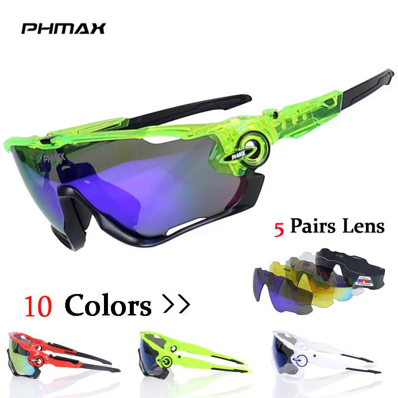 db5cb0a134 2019 PHMAX Brand Polarized Cycling Sun Glasses Mountain Bike Goggles 5 Lens  Cycling Eyewear Bicycle SunGlasses Gafas De Ciclismo From Sportblue