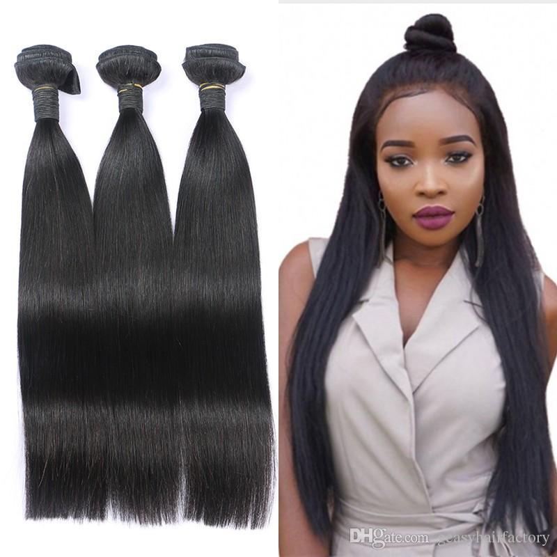 Silky Straight Hair Bundles 8 30 Inch Brazilian Virgin Human Hair