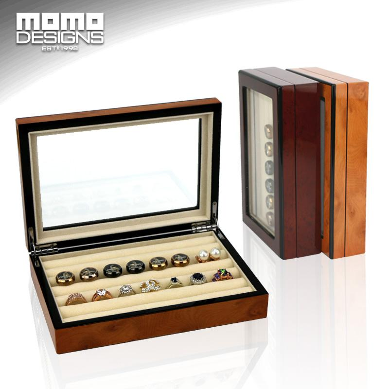 Wooden Jewelry Box Cufflink Box Wood Ring Earring Customized Cuff Link Storage Case Jewel Display