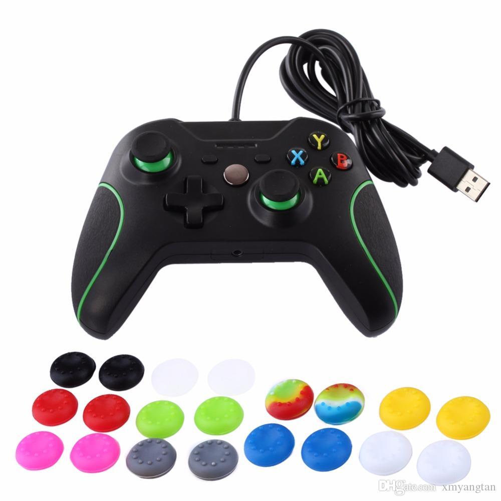 Controlador analógico de silicona de goma Cubierta de la tapa de los agarres del palillo del pulgar para PS3 PS4 Controlador de PS2 para Xbox 360 One Thumbsticks Cap
