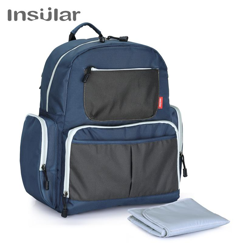 31728ae3c63f 2019 INSULAR Waterproof Baby Diaper Backpack Multi Function Nappy Bag For  Baby Care Nursing Shoulder Bags As Mummy S Travel Backpack From Rainbowny