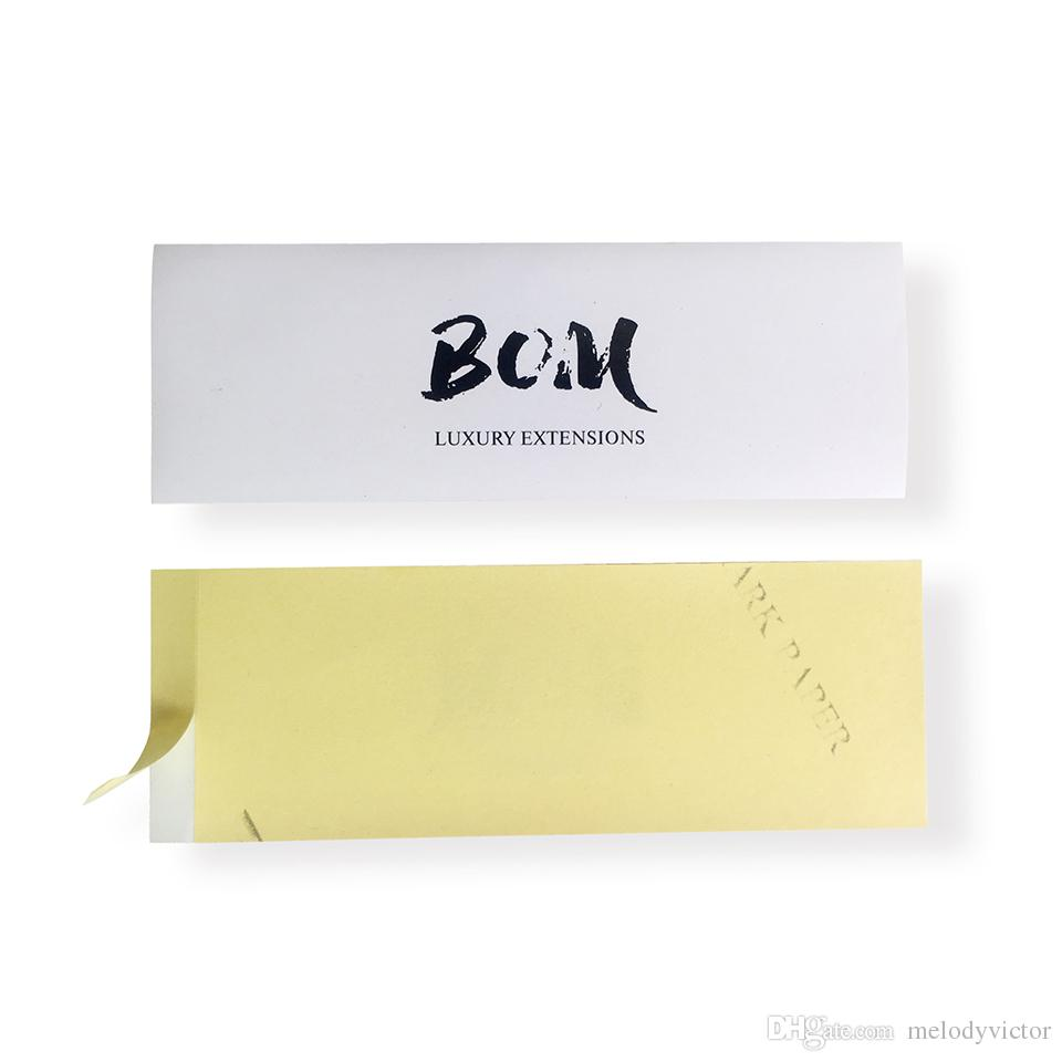 Custom Colorful Printing Private Logo Self-Adhesive Label Wrapper For Human Hair Sew In Bundle Packaging 15x2.5cm DHL