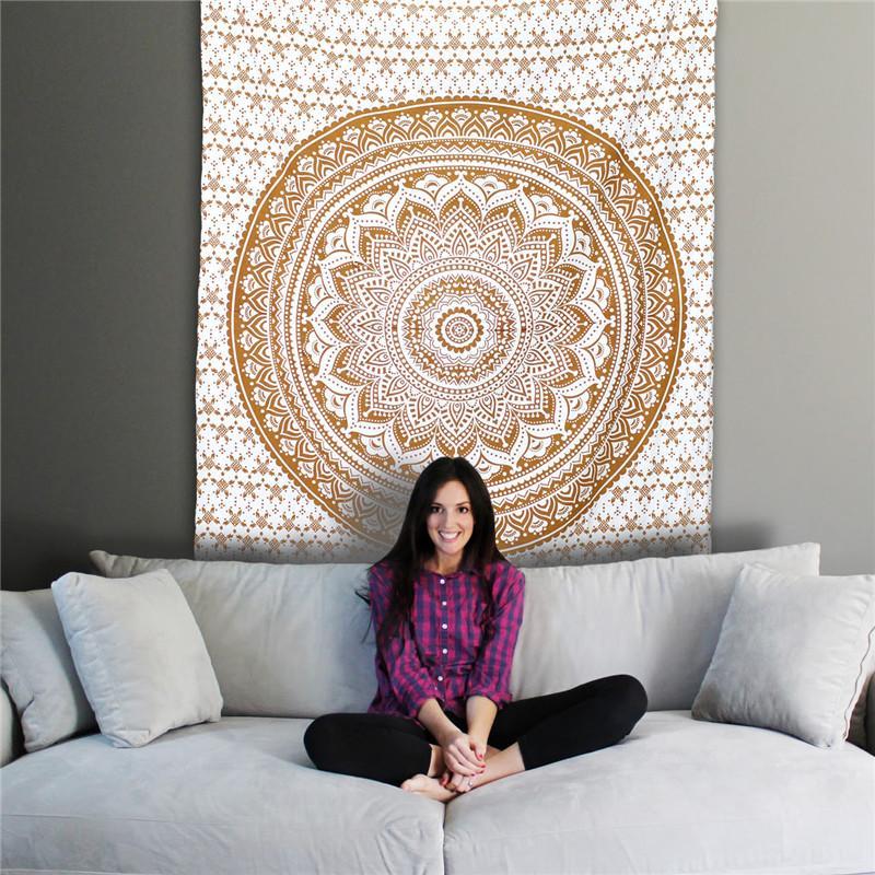 Tapetries dossal decrative pano mesa de sofá cover150 * 200 cm poliéster tecido impressão de transferência de calor dígitos Sudeste Asiático projeto Africano