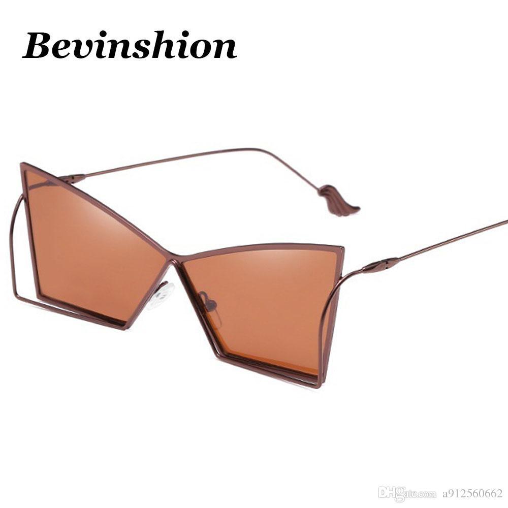 f3087c5cde New Arrival 2018 Brand Irregular Square Sunglasses Women Metal Frame ...