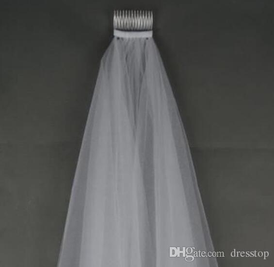 Velo nuziale scintillante in rilievo di immagine reale di trasporto libero con il velo di nozze di Tulle di lunghezza del Rhinestones del bordo