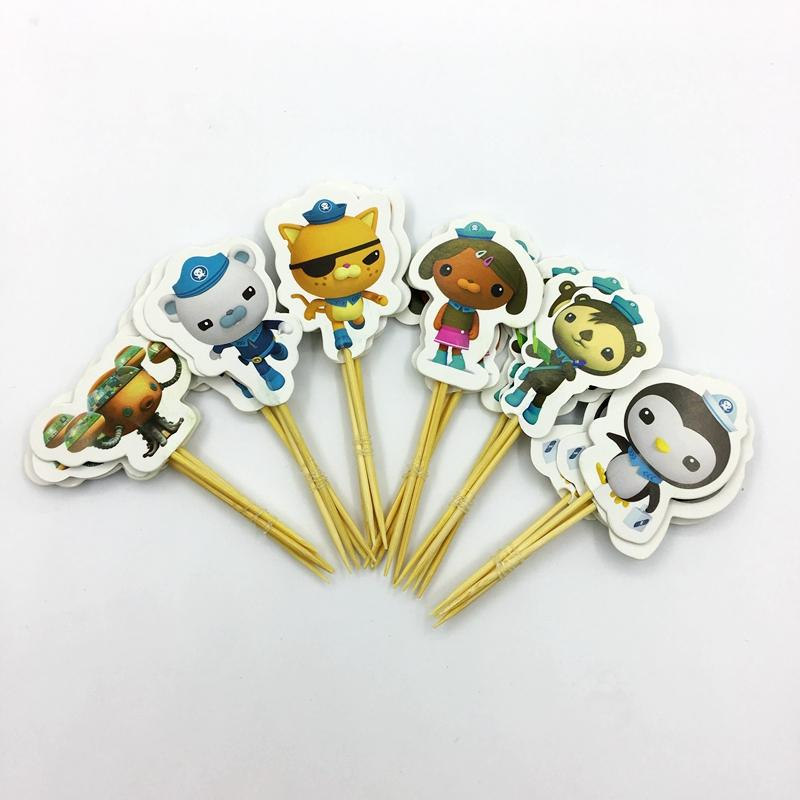 2019 Octonauts Underwater Rescue Cupcake Toppers Cartoon Girl Penguin Submarine Kids Birthday Party Cake Decoration Supplies From Lvzhigarden001