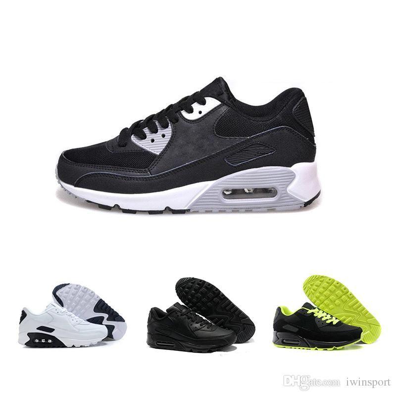 outlet store 65bf9 18851 Acquista Nike Air Max 90 Nero, Bianco E Rosso A Tre Colori Cuscino Alta  Qualità 90 Scarpe Da Corsa Donna Uomo Scarpe Sportive Scarpe Da Ginnastica  Sneakers ...