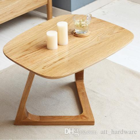 2019 European Solid Wood Coffee Table Simple Small Oval Furniture