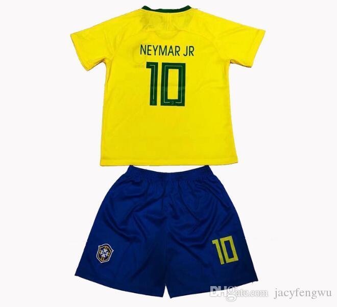Compre Camisetas De Fútbol Juvenil Messi Ronaldo Neymar Mbappe Conjuntos De  Ropa Niños Niñas Conjuntos Deportivos Niños Juegos De Fútbol Camisetas + ... a1741dd8922d1
