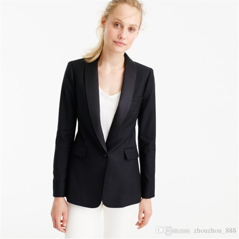 huge discount 8e9b3 74966 Giacca nera Pantaloni donna Abiti da lavoro da ufficio Uniforme da ufficio  formale Giacca da lavoro da donna 2 pezzi Blazer da donna