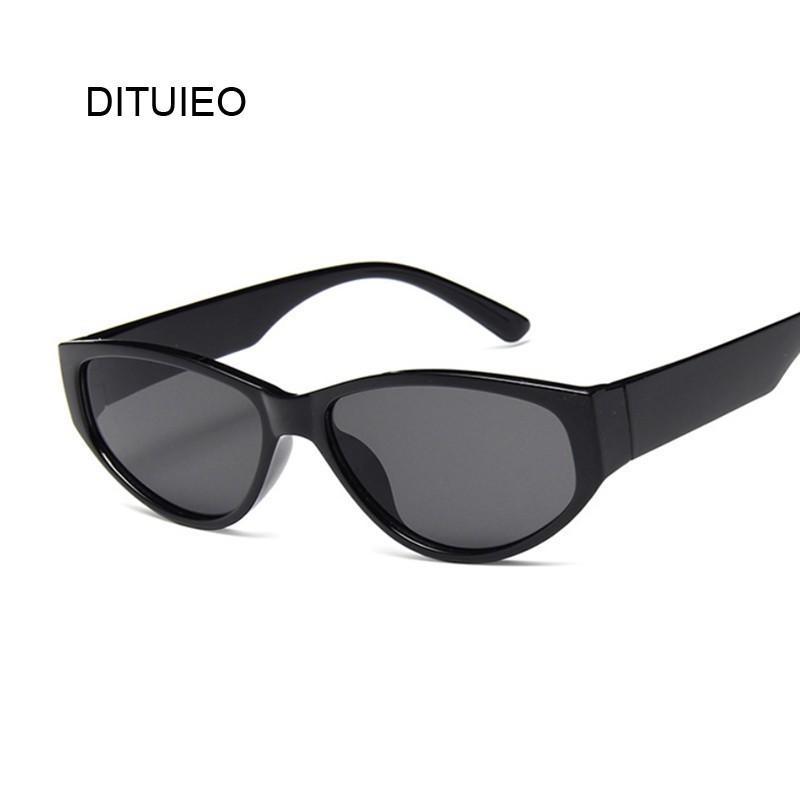 75ccd9676d7c4 Compre Óculos De Sol Das Mulheres Do Vintage Olho De Gato Designer De Marca  De Luxo Óculos De Sol Retro Pequenas Senhoras Óculos De Sol Óculos De Sol  Preto ...