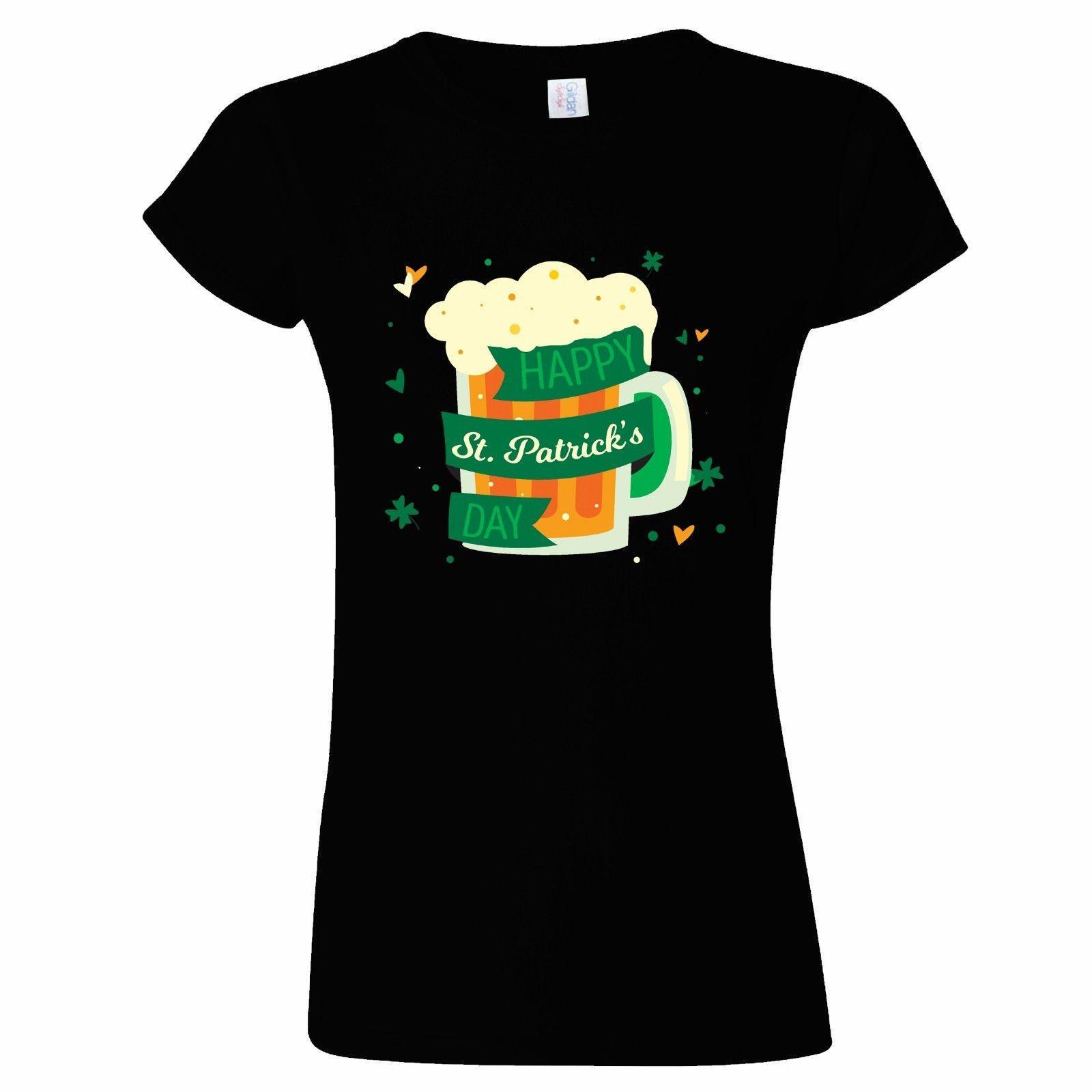 2958e2da ST PATRICKS DAY BEER MUG DESIGN WOMENS T SHIRT IRISH IRELAND DRINK BEER  PATRICK One Day T Shirt Best Site For T Shirts From Bangtidyclothing,  $10.9  DHgate.
