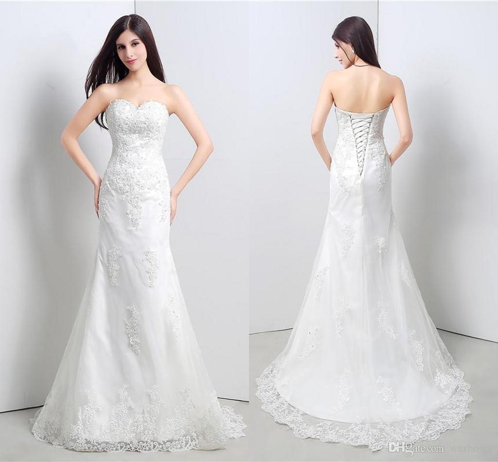 74adfb51bf Compre Vestidos Elegantes Cariño Con Apliques Sirena Tulle Largo Banquete  De Boda Vestidos De Novia Para Mujer Vestidos De Novia Vestidos HY4203 A   130.66 ...