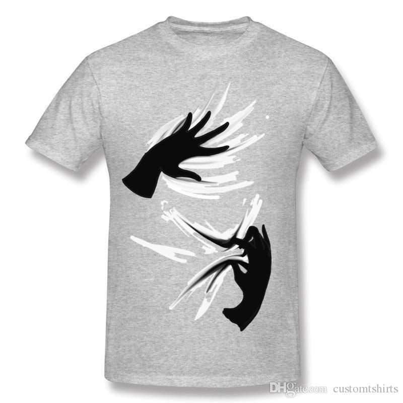 Марка Мужская 100% хлопок Ткань Что они делают футболки Мужские шею белые футболки с коротким рукавом большого размера Простые футболки