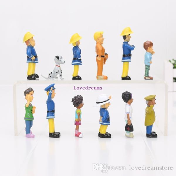 / set Cartoon Anime Pompier Sam 2.5-6cm figure figure action pvc jouets ensemble bons enfants jouet cadeau Téléphone Accessoires