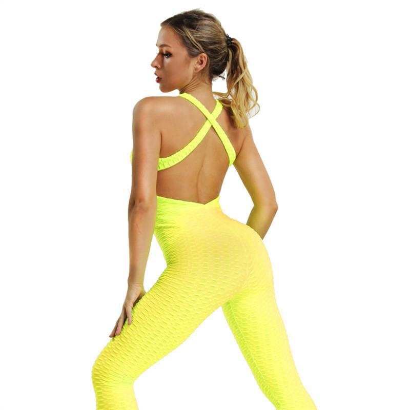 f2f116085f36d Compre Mono Deportivo Yoga Jumpsuit Fitness Sport Suit Mujeres Chándal Yoga  Set Backless Gym Running Set Ropa Deportiva Mujer Ropa A  37.85 Del Pekoe  ...