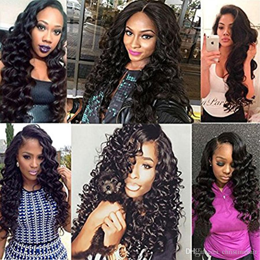 8A Peruvian Virgin Hair Jet Black Loose Wave Human Hair 100% Unprocessed Human Hair Extension 4 Bundles Cheap Weave 100g