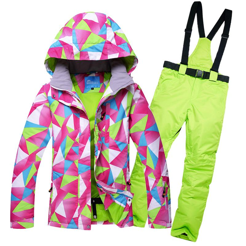 brand new 7685a b0567 Winter sale snow jacket women ski suit set jackets and pants outdoor female  single skiing clothes windproof thermal snowboarding