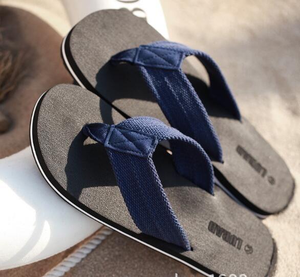 3e532648808d Men Summer Stripe LURAD Flip Flops Shoes Male Slipper Flip-flops ...