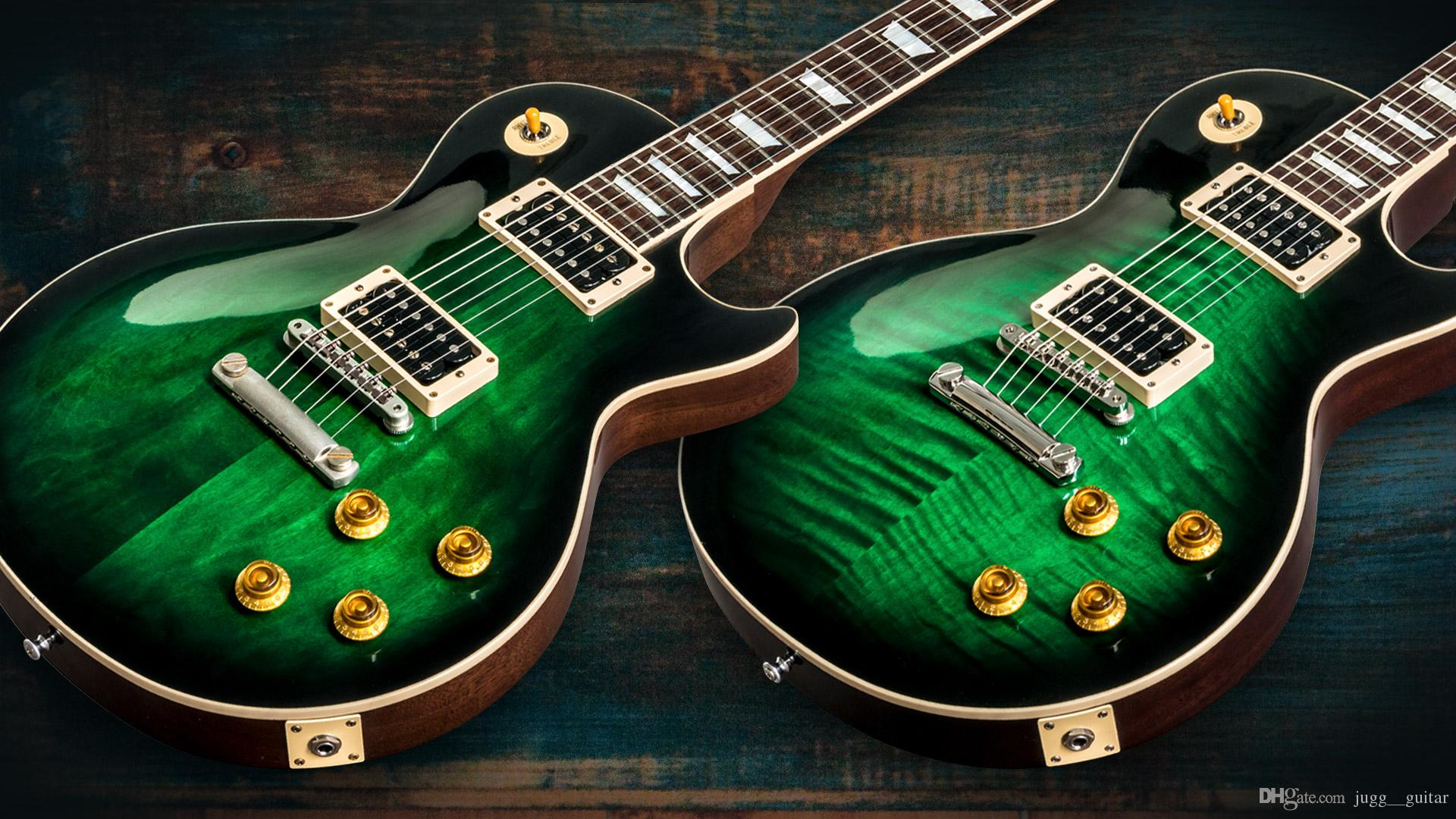 Ultimate Custom 1958 Slash Signed 2017 Edizione limitata Anaconda Burst Flame Top / Anaconda Plain Top Green Chitarra elettrica Dark Brown Indietro