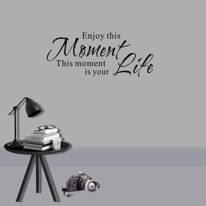 Enjoy This Moment Is Your Life Wall Stickers Retro Phrases