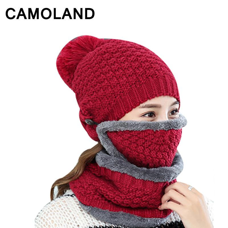Balaclava Thicken Warm Thermal Fleece Winter Hats for Women Neck ... e04c67fa7b6b