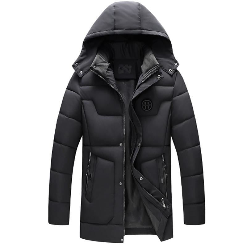 67108ad2aca 2019 Legible New 2018 Men Jacket Coats Thicken Warm Winter Jackets Casual  Men Parka Hooded Outwear Cotton Padded Jacket From Bairi