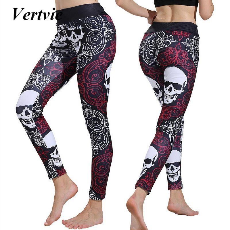 208c3be32e954 2019 Vertvie Women'S Skeleton Printed Sweatpants Halloween Yoga Fitness  2018 Running Joggering Training Female Sports Pants From Duriang, $37.59 |  DHgate.