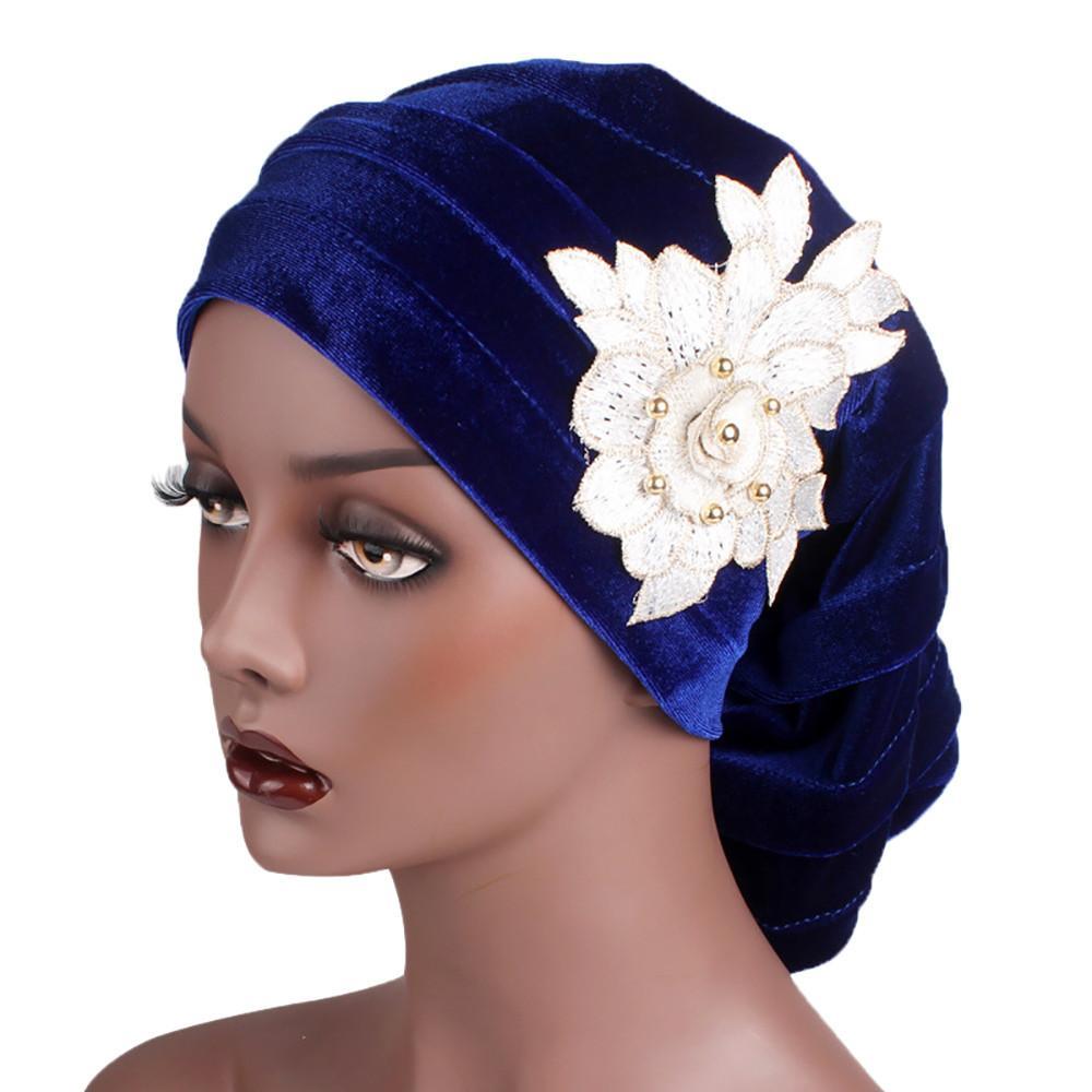 Großhandel Frauen Große Blume Modell Kopftuch Chemotherapie Cap