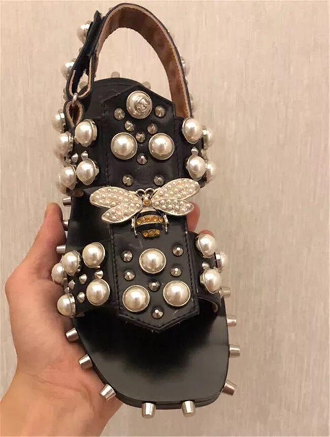 Fres Shipping 2018 Designer Shoes Beautiful Pealrs Women