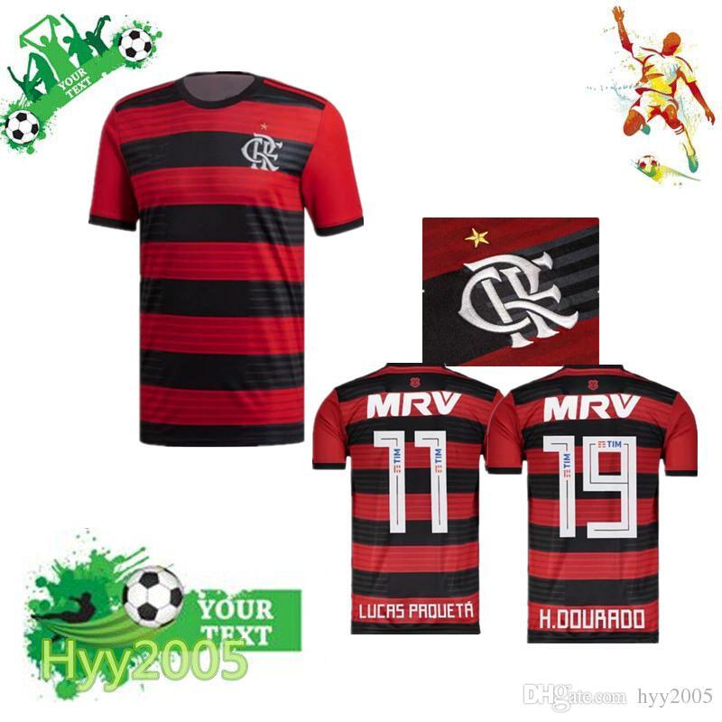 6abc261c186 18 19 Flamengo Jersey 2018 2019 Flemish GUERRERO DIEGO VINICIUS JR ...