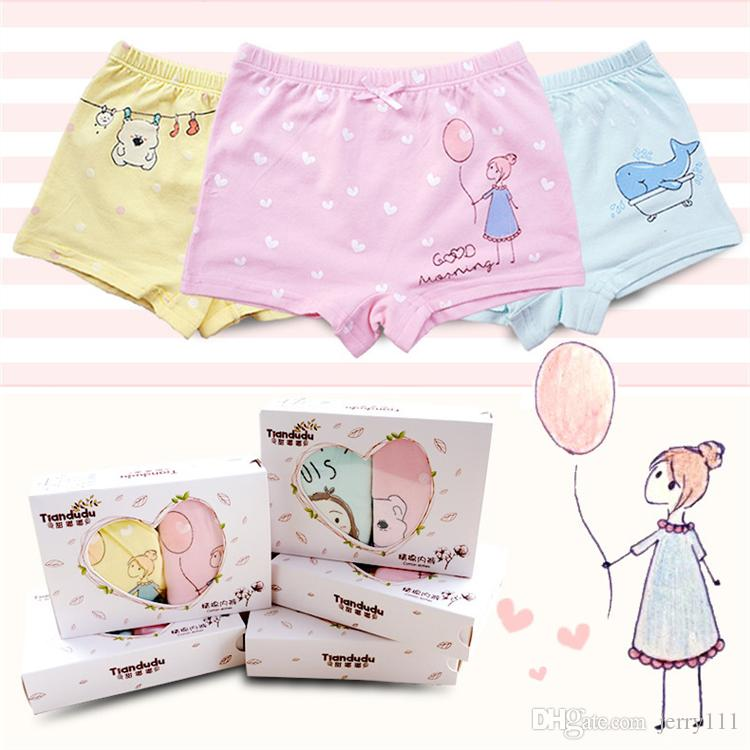 61315da1b2 2019 Girls Cotton Underpants  Box 26 Designs High Quality 3 13 Years Old  Kids Cotton Panties Girls Cartoon Boxers Briefs Pants LA613 2 From  Jerry111