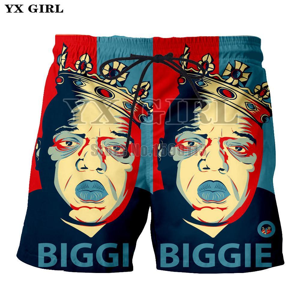 Men's Clothing Active Yx Girl New Fashion Shorts Men Women 3d Print Rap Singer Notorious Big 3d Shorts Breathable Short Pants Summer