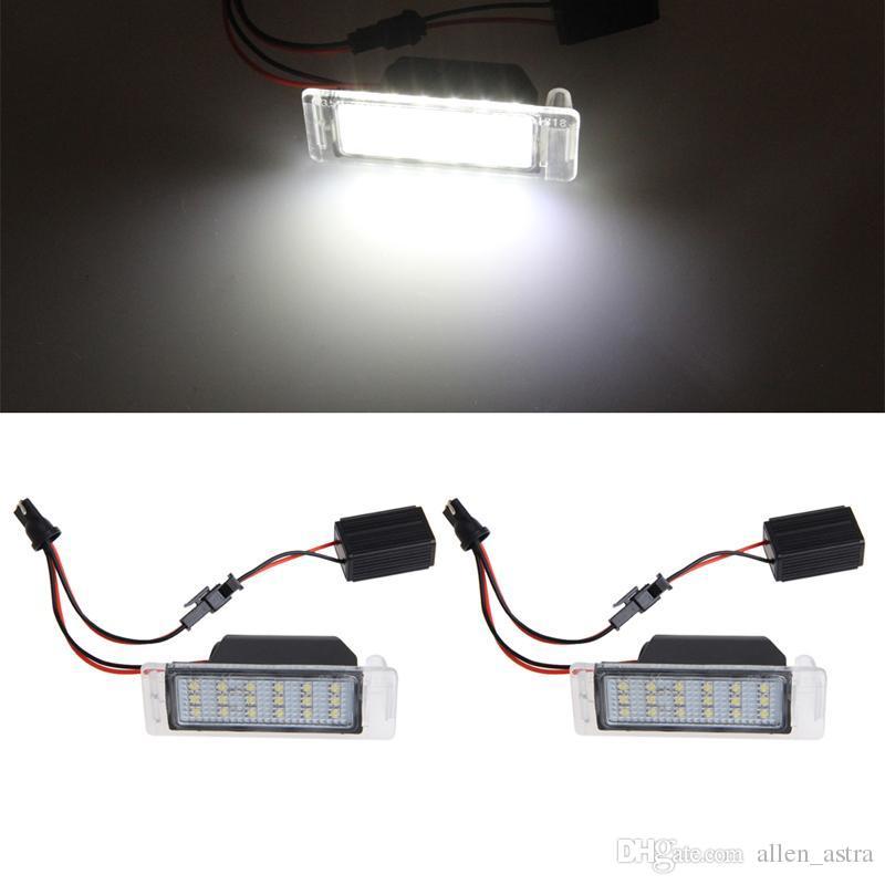 Car Led Number License Plate Lights Lamp Frame 12v White Smd Led ...