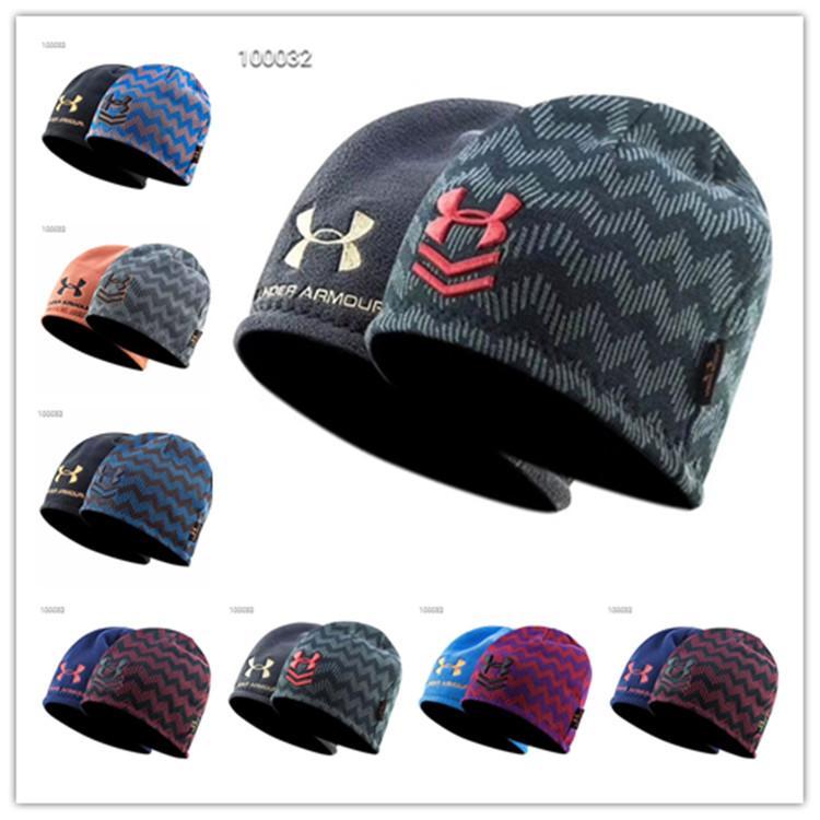 98c012ccb1c Brand U A Knitted Hat Reversible Beanie Under Winter Fleece Skull Cap  Fedora Double Side Wear Beanies Hats Armor Men Women Warm Caps Hot New UK  2019 From ...