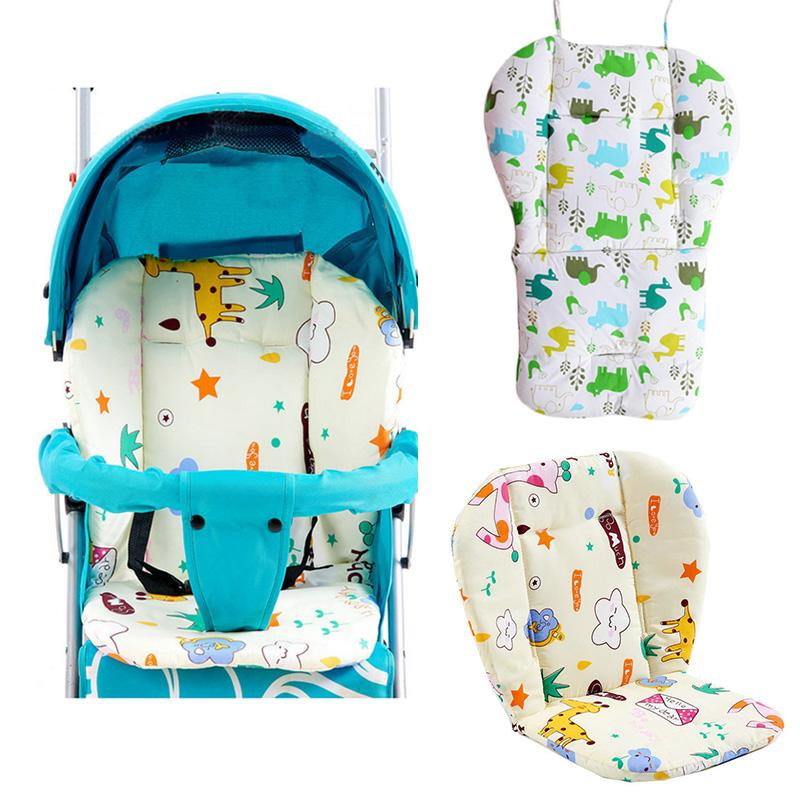 Strollers Accessories New Baby Stroller Seat Cartoon Umbrella Cart Car Print Cushion Stroller Pad Mattresses Pillow Cover Child Carriage Car Pad